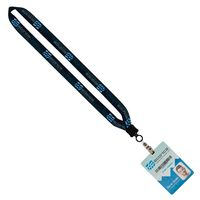 "915002972-190 - 3/4"" Dye-Sublimated Lanyard With Clamshell & Vinyl Snap & 4""x6"" Plastic Badge - thumbnail"