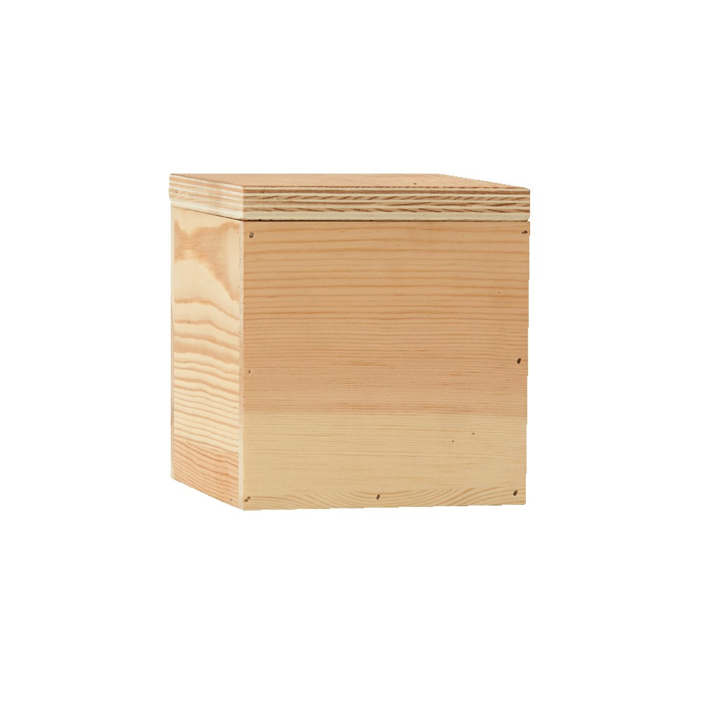 935322485-190 - 4 x 4 Small Square Wooden Box - OUT OF STOCK, CALL FOR DETAILS - thumbnail