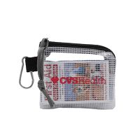 """996212618-190 - First Aid Kit in a 4.5"""" x 4"""" Screen Printed Zippered Clear Nylon Bag - thumbnail"""