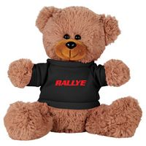 "165156277-103 - 8"" Sitting Plush Bear with Shirt - thumbnail"
