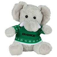 "515156223-103 - 6"" Ugly Sweater Plush Elephant - thumbnail"