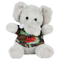 "565156273-103 - 6"" Plush Elephant with Shirt - thumbnail"