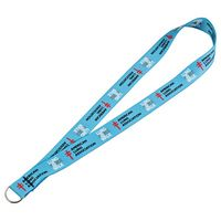 "725450424-103 - Full Color 1"" Elastic Lanyard w/ Ring - thumbnail"