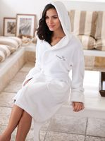 953429843-173 - Hooded Coral Fleece Robe - thumbnail
