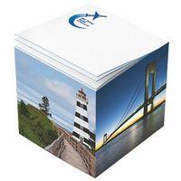 "701389004-125 - Post-it® Custom Printed Noted Full Cube (3 3/8""x3 3/8""x3 3/8"") - thumbnail"