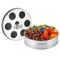 111640831-153 - Small Film Reel Tin - 3 Way Snack Tin - thumbnail