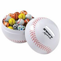 112000290-153 - Small Themed Tin Banks - Chocolate Sport Balls - thumbnail