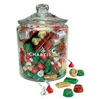 174096150-153 - Hershey's® Holiday Mix in Gallon Glass Jar - thumbnail