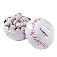 185425795-153 - Double Header Baseball Tin Bank with Chocolate Baseballs - thumbnail
