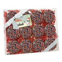 314167819-153 - Elegant Chocolate Covered Oreo Gift Box - Rainbow Sprinkles (12 pack) - thumbnail