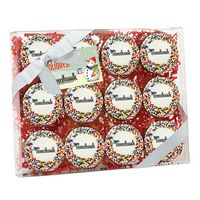 315048315-153 - Elegant Chocolate Covered Printed Oreo Gift Box - Rainbow Sprinkles/Printed Cookies (12 pack) - thumbnail