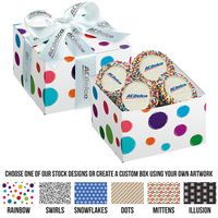 315311551-153 - Gala Gift Box w/ 5 Chocolate Covered Custom Oreo® Cookies w/ Rainbow Nonpareils (Large) - thumbnail