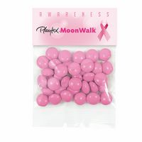 335469402-153 - Breast Cancer Awareness Hopeful Header Bags w/ Pink Chocolate Buttons - thumbnail