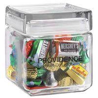 354099282-153 - Square Glass Jar - Hershey's® Holiday Mix (32 Oz.) - thumbnail