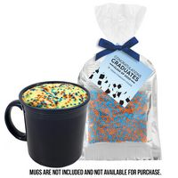 356259962-153 - Graduation Mug Cake Mug Stuffer - School Color Cake - thumbnail