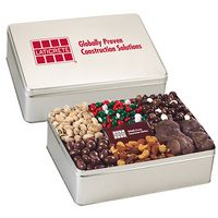 364166671-153 - 6 Way Deluxe Gift Tin with Chocolate Bar - Gourmet Treat Selection - thumbnail