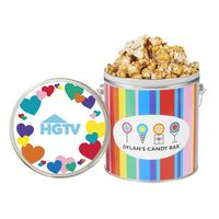 376459284-153 - Dylan's Candy Bar - Valentine's Day 1 Gallon Popcorn Tin - Cookies & Cream & Vanilla Cookies & Cream - thumbnail