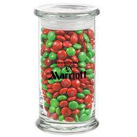 395183019-153 - Status Glass Jar - Holiday M&M's® (20.5 Oz.) - thumbnail