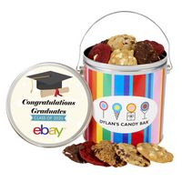 396267966-153 - Dylan's Candy Bar - Graduation One Gallon Gourmet Cookie Tin - Assorted - thumbnail