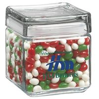 505182899-153 - Square Glass Jar - Holiday Gourmet Jelly Beans (32 Oz.) - thumbnail