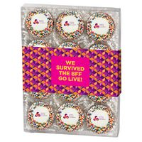 725048480-153 - Chocolate Covered Printed Oreo Gift Box - Rainbow Nonpareil Sprinkles/Printed Cookie (12 pack) - thumbnail