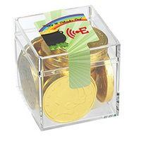 925563783-153 - Four Leaf Clover Cube w/ Gold Coins - thumbnail
