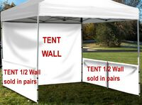 133704427-157 - Event Tent Half Wall Pair (NO IMPRINT) with Railing Hardware - thumbnail