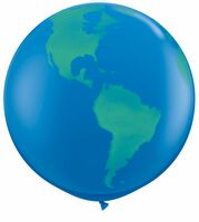 "16719984-157 - 36"" Giant Globe Balloon (Blank) - thumbnail"