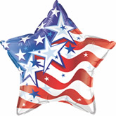 "775909335-157 - 20"" Star Stock Microfoil Balloon- STARS & STRIPES FOREVER - thumbnail"