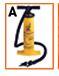 "905899156-157 - 15 1/4"" Double Action Heavy Duty Hand Air Pump - thumbnail"