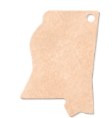 """595802357-174 - 14""""x9.5"""" Epicurean Mississippi Shaped Cutting Board - thumbnail"""