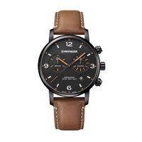 706226342-174 - Urban Metropolitan Chrono Black Dial Leather Strap Watch - thumbnail