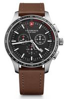 795803444-174 - Alliance Sport Chronograph Watch w/Brown Leather Strap - thumbnail