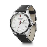 966226365-174 - White Dial Black Leather Strap Watch - thumbnail