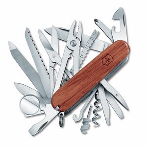 973696990-174 - Swisschamp® Walnut Wood Swiss Army® Knife - thumbnail