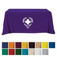 105161003-816 - Flat Poly/Cotton 4-sided Table Cover - fits 6' standard table - thumbnail