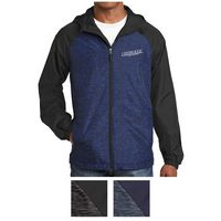 115409064-816 - Sport-Tek® Heather Colorblock Raglan Hooded Wind Jacket - thumbnail
