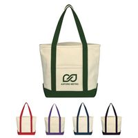 133707492-816 - Small Heavy Cotton Canvas Boat Tote Bag - thumbnail