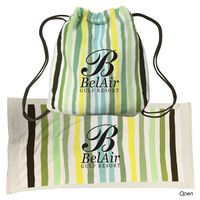 145703400-816 - 2-In-1 Microfiber Beach Towel Drawstring Bag - thumbnail