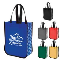 156078799-816 - Snow Flurry Laminated Non-Woven Tote Bag - thumbnail