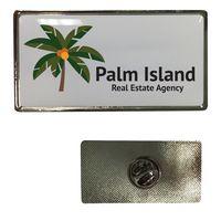 165186977-816 - Large Rectangle Dome Lapel Pin - thumbnail