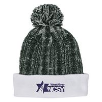 166101825-816 - Casey Cable Knit Pom Beanie With Cuff - thumbnail