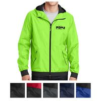 175414637-816 - Sport-Tek® Embossed Hooded Wind Jacket - thumbnail