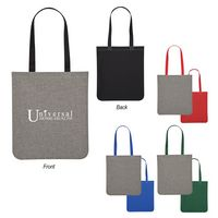 185498966-816 - Heathered Two-Tone Brochure Tote Bag - thumbnail