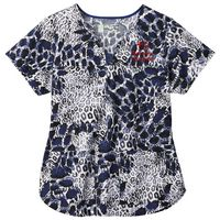 195636739-816 - BIO Prints Ladies Contrast Curved Placket Top - thumbnail