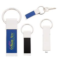 315157512-816 - Two-Tone Rectangle Key Tag - thumbnail