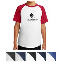 315409067-816 - Sport-Tek® Youth Short Sleeve Colorblock Raglan Jersey - thumbnail