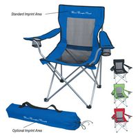 322281532-816 - Mesh Folding Chair With Carrying Bag - thumbnail