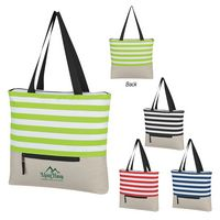 325498949-816 - Broad Stripe Zippered Tote Bag - thumbnail