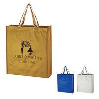 354964641-816 - Metallic Non-Woven Shopper Tote Bag - thumbnail